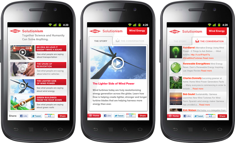 Dow Solutionism Mobile Site