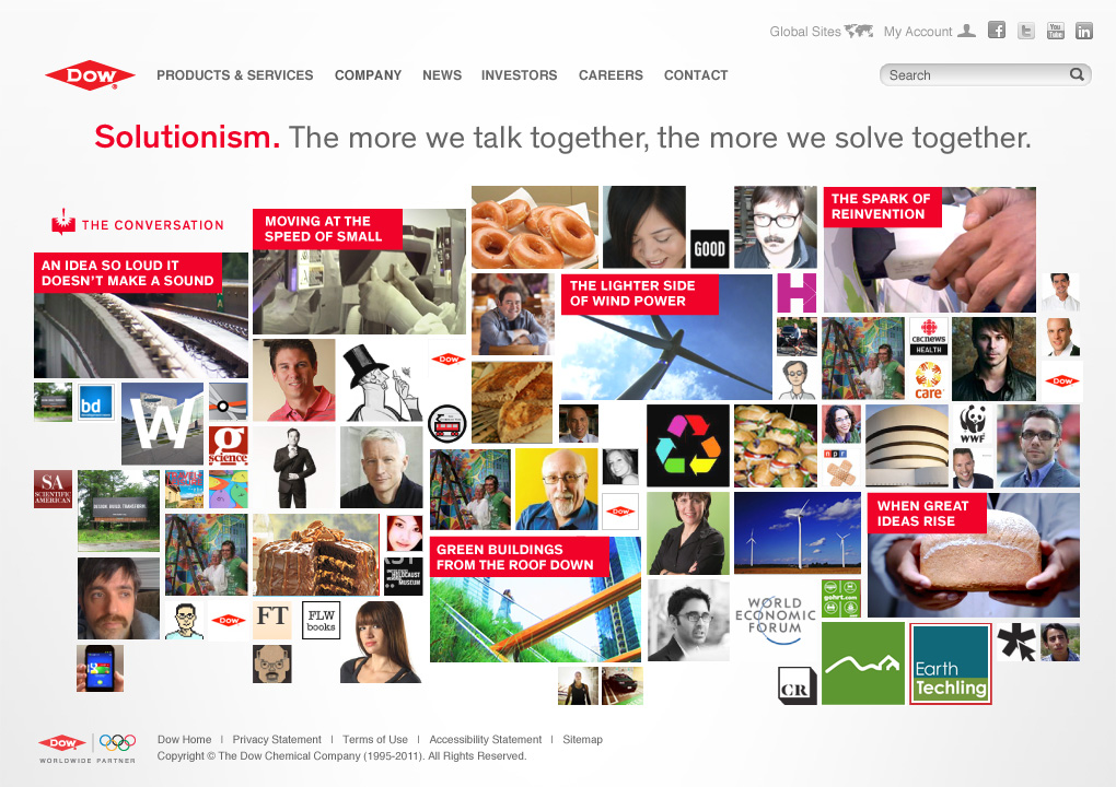 Dow Soutionism section home page