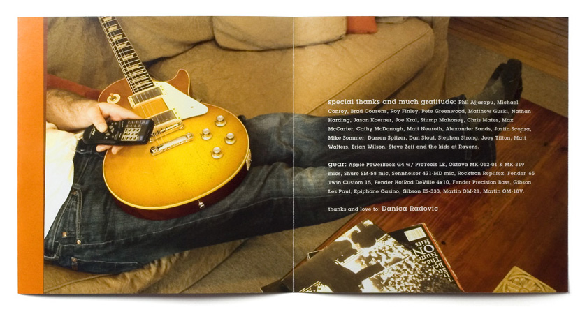 Graham Cousens Living Room Sessions booklet