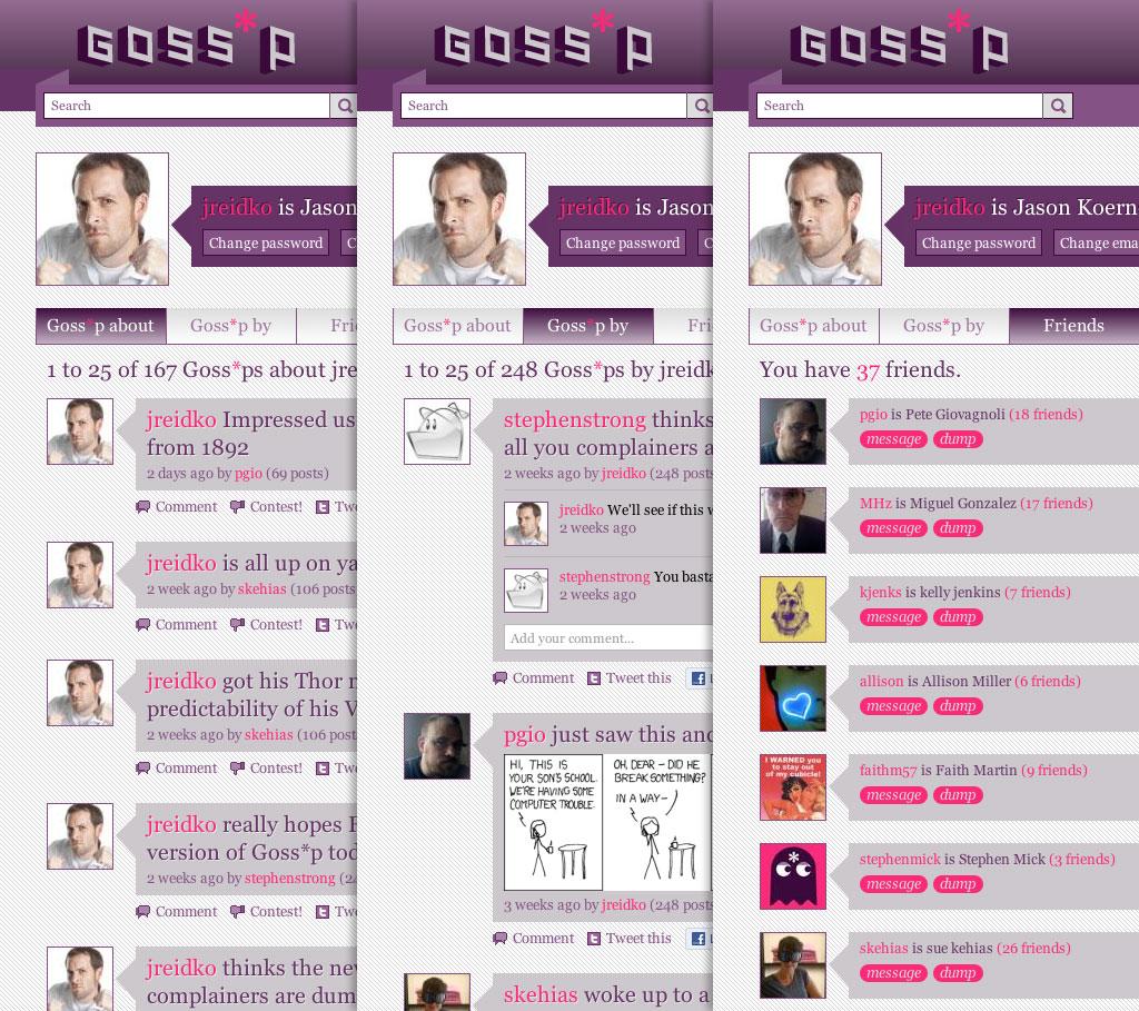 Goss-p.com userpage