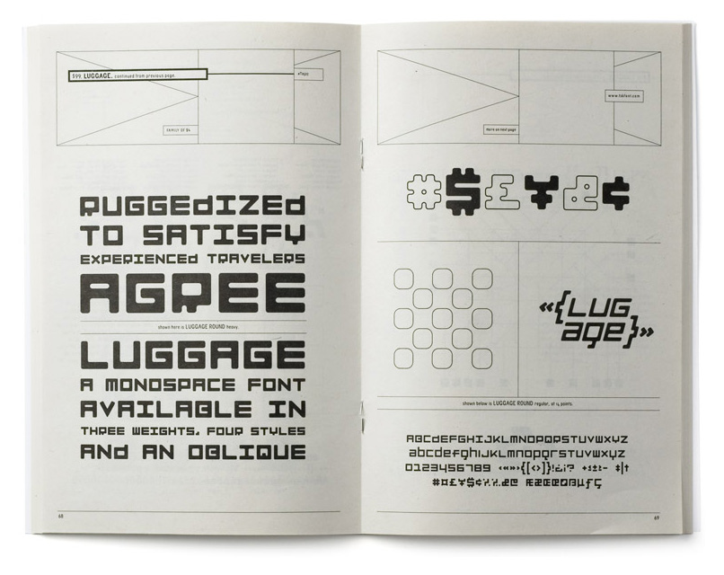 T-26 type catalog layout for Luggage, spread A