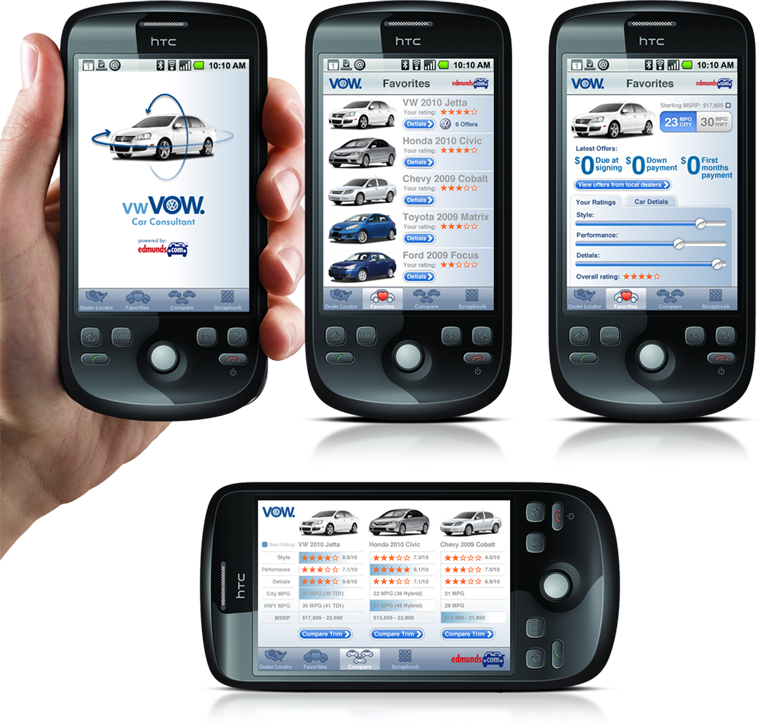 Volkswagen - Mobile Car Shopping App