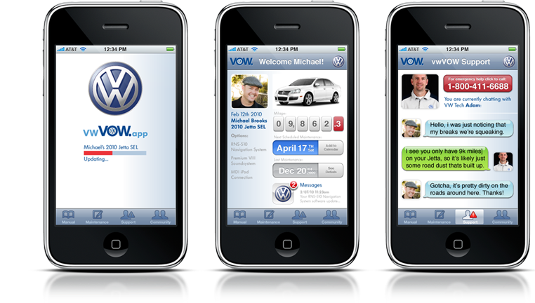 Volkswagen - Mobile Customer Concierge App