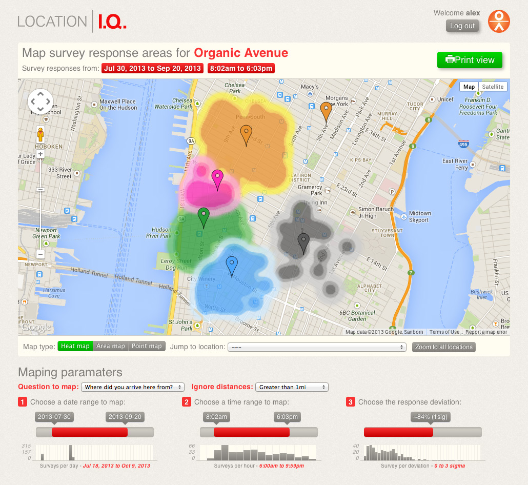 Location I.Q. Mapping Tool - Heatmap